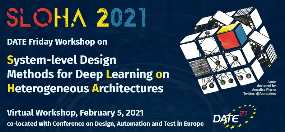 SLOHA 2021: DATE Friday Workshop on System-level Design Methods for Deep Learning on Heterogeneous Architectures
